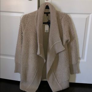 NWT- taupe cardigan from banana republic size S